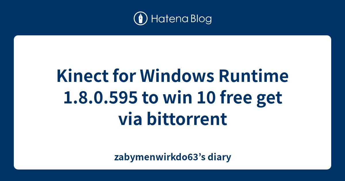 Kinect developer toolkit v1.8